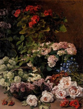 Claude Monet Painting - Spring Flowers Claude Monet
